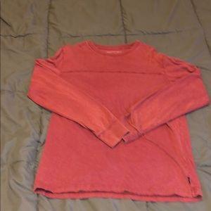 Men American Eagle Long Sleeve Shirt Basic Red